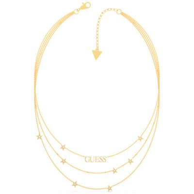 principal Collar GUESS estrellas UBN70066 acero dorado