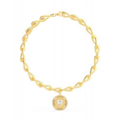 principal Collar GUESS moneda UBN70006 mujer acero plateado