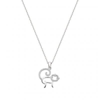 principal Collar monkey ITEMPORALITY SNL-101-014-UU plata