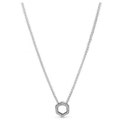 principal Collar Pandora 398787C01-50 mujer plata con circonita.