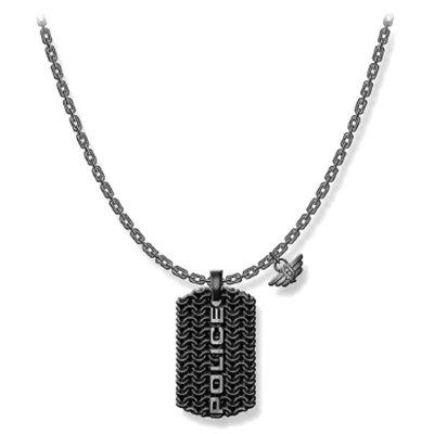 principal Collar Police hombre PJ.26565PSE-01, acero, efecto oxidado