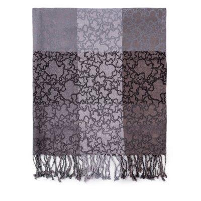 principal Foulard Tous 995920058 Kaos negro-gris