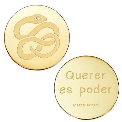 principal Medallón Plaisir Viceroy VMC0006-06 Mujer Acero Dorado Plaisir