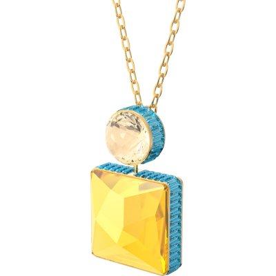 principal Collar Orbita Swarovski 5600513 chapado dorado