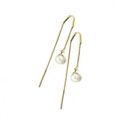 principal Pendiente cadena y perla Le Carré GB016OA.00 mujer oro 18 Kilates y perla