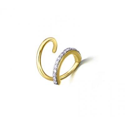 1b6af53d15a0 Pendiente espiral Le Carré GB014OA.00 mujer oro 18 Kilates y diamantes -  Joyería Francisco Ortuño