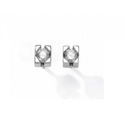 principal Pendientes Botón Antonelli 242699 Mujer Oro blanco Diamante