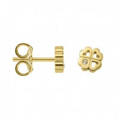 principal Pendientes botón Argyor 8307203 oro diamante