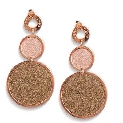 principal Pendientes Colgante Ippocampo jewels IPPS28 Mujer Bronce Oro rosa