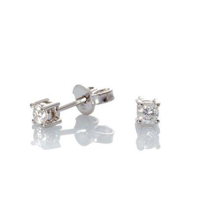 principal Pendientes Davite & Delucchi BBS0733306 mujer oro blanco Diamantes