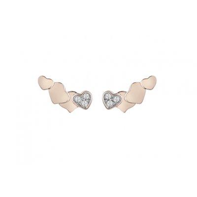 Pendientes Guess Mujer UBE83022 Metal Color cobre Mariposa Circonitas