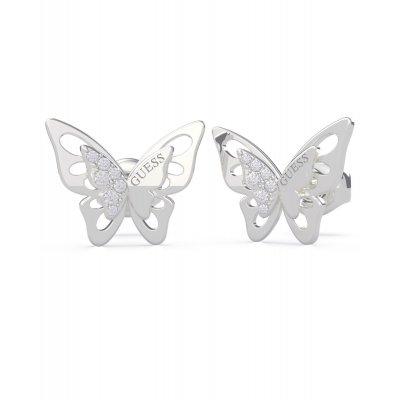 principal Pendientes mariposa GUESS UBE70184 mujer plateado