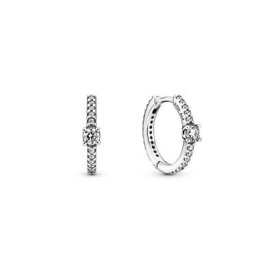 principal Pendientes Pandora 299406C01 aro brillante plata