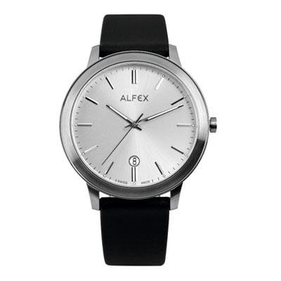 principal Reloj Alfex 5713-466 Hombre Plateado Cuarzo Analógico