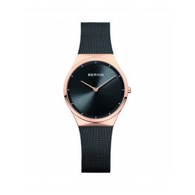 principal Reloj Bering 12131-162 mujer negro acero Ip rosa