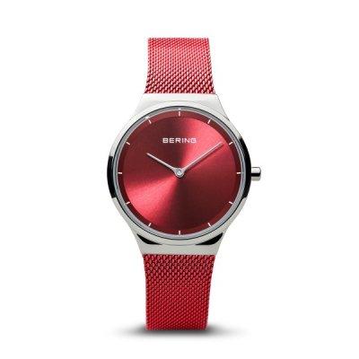 principal Reloj Bering 12131-303 mujer rojo acero