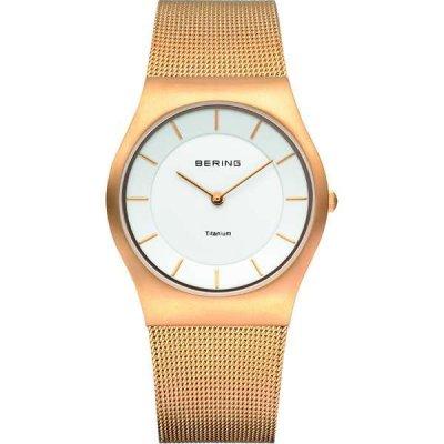 principal Reloj Bering Classic Collection 11935-334 Mujer Acero Amarillo Cuarzo