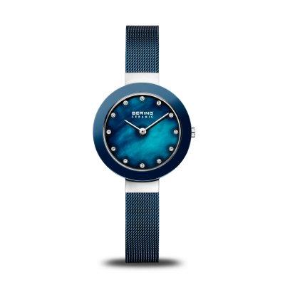 principal Reloj BERING Malla azul acero 11429-387 mujer plateado