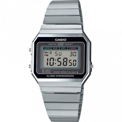 principal Reloj Casio Retro A700WE-1AEF Unisex Plateado Cronómetro