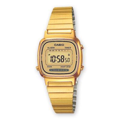 principal Reloj Casio Retro LA670WEGA-9EF Mujer Dorado Cronómetro