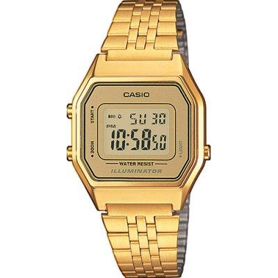 principal Reloj Casio Retro LA680WEGA-9ER Mujer Dorado Cronómetro