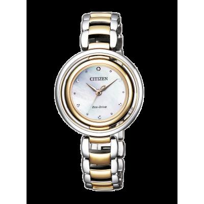 principal Reloj Citizen acero EM0666-89D Lady 0331 diamante