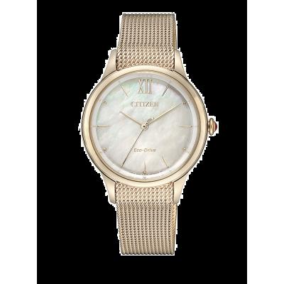 principal Reloj Citizen acero EM0813-86Y Lady 078 oro rosa