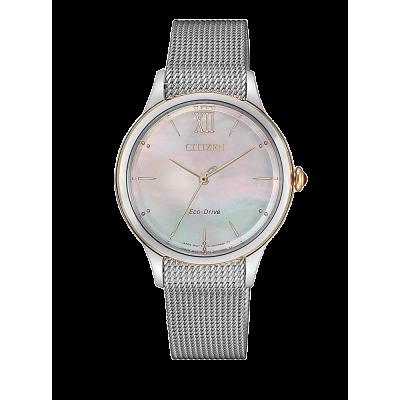 principal Reloj Citizen acero EM0816-88Y Lady 078 zafiro