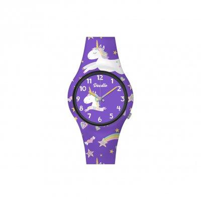 principal Reloj Doodle Arco iris Mood DO32006 niña violeta