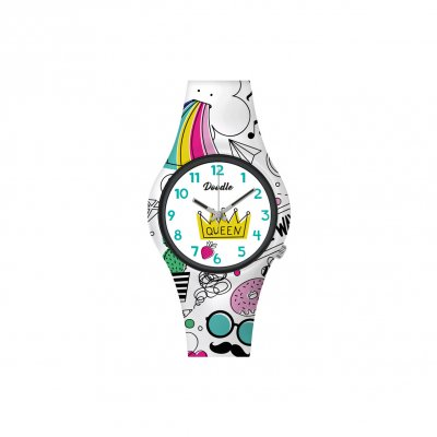 principal Reloj Doodle Queen Mood DO32007 niña multicolor