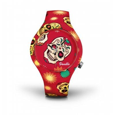 principal Reloj Doodle Skull Mood DOCA001 unisex multicolor