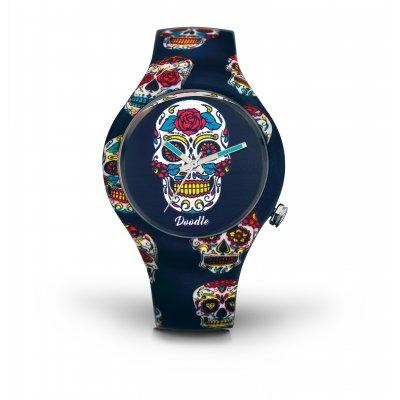 principal Reloj Doodle Skull mood DOCA005 unisex multicolor