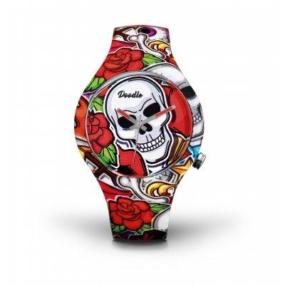 principal Reloj Doodle Skull mood DOSK003 unisex multicolor