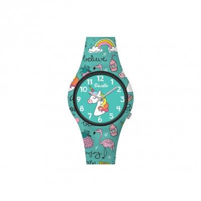 principal Reloj Doodle Unicornio Mood DO32005 niña multicolor