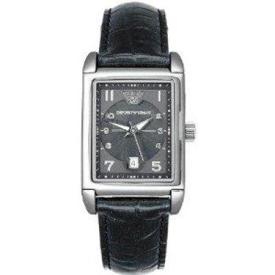 principal Reloj Emporio Armani AR0272 Hombre Negro Rectangular Cuarzo