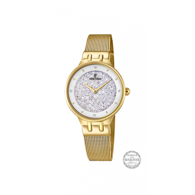 principal Reloj Festina MADEMOISELLE F20386/1 mujer dorado acero