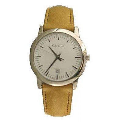 principal Reloj Gucci 15600 Hombre Blanco Cuarzo Analógico