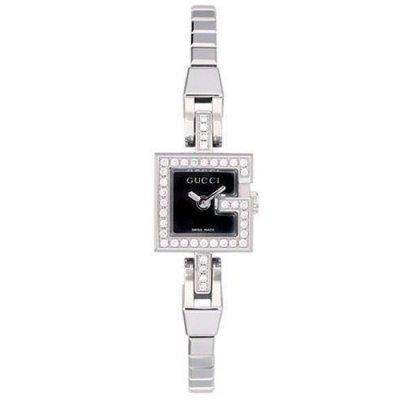 principal Reloj Gucci YA102511 Mujer Negro Cocodrilo Diamantes