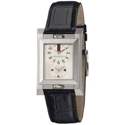 principal Reloj Gucci YA111304 Unisex Blanco Cocodrilo Cuarzo