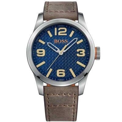 principal Reloj HUGO BOSS Orange 1513352 Hombre Piel Plateado