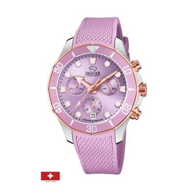 principal Reloj Jaguar Woman J890/2 caucho cronógrafo mujer