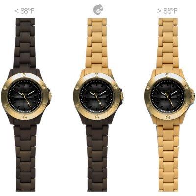 principal Reloj Kamawacht KWP11 Hombre Tecnología Térmica Marrón-Dorado