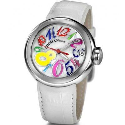principal Reloj Locman 340 Mujer Blanco Cocodrilo Cuarzo