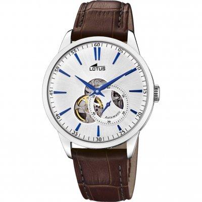 principal Reloj Lotus Automático 18536/2 acero hombre piel