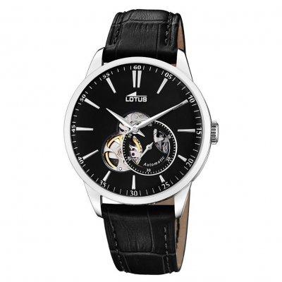 principal Reloj Lotus Automático 18536/4 acero hombre piel