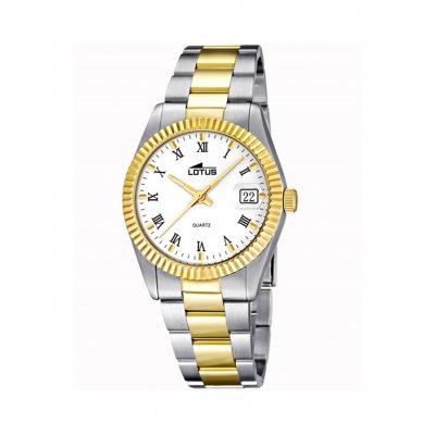 principal Reloj Lotus Excellent 15823/1 acero mineral lupa