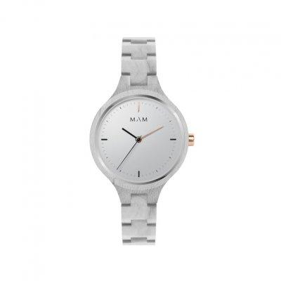 principal Reloj MAM mujer SILT 605 Madera Arce Gris