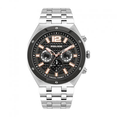 principal Reloj POLICE KEDIRI DUAL TIME PL.15995JSTU-61M  hombre gris