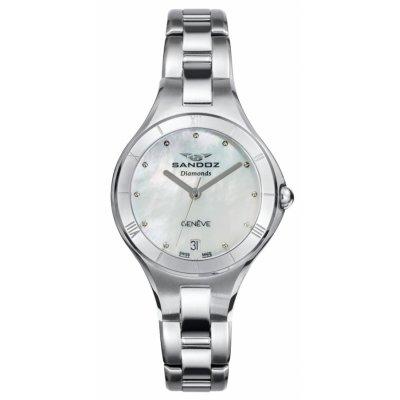 principal Reloj Sandoz 81370-07 mujer acero plateado