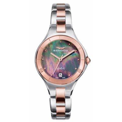 principal Reloj Sandoz 81370-57 mujer acero IP rosa